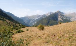 Горный вид от Пиренеи Стоковое Изображение