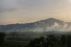 Горный вид утра Стоковое Фото