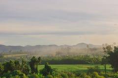 Горный вид утра Стоковое фото RF