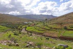 Горный вид в Канарских островах Las Palmas Испании Фуэртевентуры Стоковое Фото