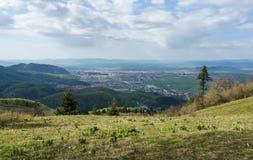 Горный вид города Brasov Стоковая Фотография RF