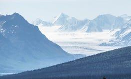 Горный вид ледника США Стоковое Изображение