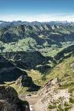 Горный вид от держателя Saentis, Швейцарии Стоковая Фотография RF