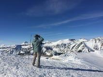 Горный вид снега Стоковое фото RF