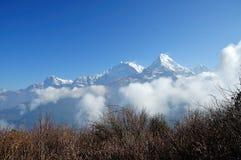 Горный вид Annapurna Стоковые Изображения RF