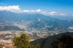 Горный вид Annapurna, Pokhara, Непал Стоковые Изображения RF