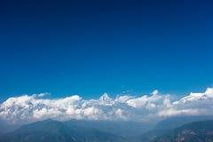 Горный вид Annapurna, Pokhara, Непал Стоковое фото RF