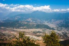 Горный вид Annapurna, Pokhara, Непал Стоковая Фотография RF