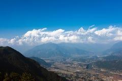 Горный вид Annapurna, Pokhara, Непал Стоковое Фото