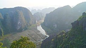 Горный вид Ninh Binh Стоковое фото RF