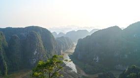 Горный вид Ninh Binh Стоковые Изображения