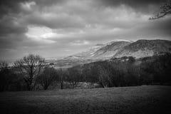Горный вид Welsh стоковое фото rf