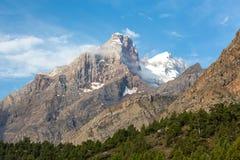 Горный пик в горах вентилятора Стоковое Изображение RF