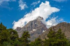 Горный пик в горах вентилятора Стоковая Фотография RF