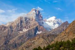Горный пик в горах вентилятора Стоковые Изображения