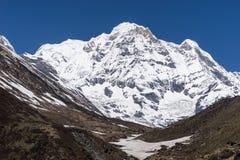 Горный пик Annapurna южный, ABC, Pokhara, Непал Стоковое Изображение