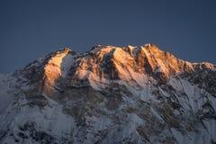 Горный пик Annapurna i, 10th самая высокая гора в мире, h Стоковое Изображение