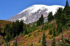 Горный пик Snowy, Mt ненастно Стоковая Фотография RF