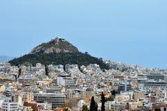 Горный склон в Афинах, Греции Стоковые Изображения RF