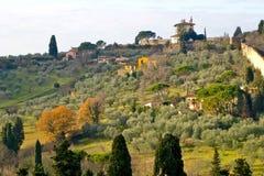 Горный склон в Флоренсе Италии Стоковое Изображение