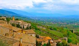 Горный склон Assisi стоковая фотография