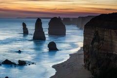 12 горных пород апостолов, Австралия Стоковые Изображения