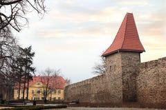 Городище городка в Swiebodzice Стоковое фото RF