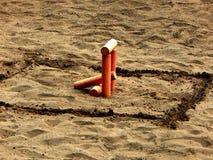 Городки игры Диаграмма вызвана обстреливанным пулеметным огнем гнездом стоковая фотография