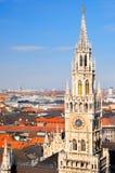 городок башни munich разбивочного здание муниципалитет новый Стоковое Изображение