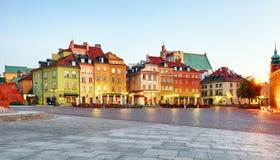 Городок Варшавы старый, Plaz Zamkowy, Польша, никто стоковое фото