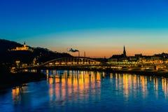 Городок вечера Стоковые Изображения RF