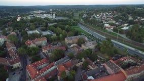 Городок Вильнюса старый, Литва Уникально зодчество сток-видео
