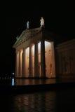 Городок Вильнюс старый на ноче Стоковое Изображение RF