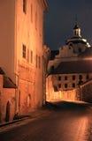 Городок Вильнюс старый на ноче Стоковые Изображения RF
