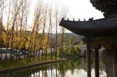 Городок воды GuBei осени стоковое фото rf
