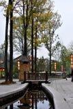 Городок воды Taihang в осени стоковая фотография