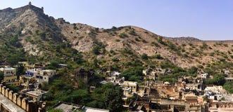Городок вокруг янтарного взгляда форта Стоковая Фотография RF