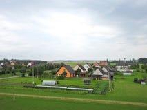 Городок в лете, Литва Naisiai стоковые изображения rf