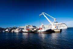 городок гавани плащи-накидк Стоковое Фото