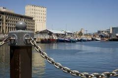 городок гавани плащи-накидк Стоковые Изображения