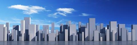 городок горизонта 3d иллюстрация вектора
