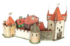 городок замока Стоковые Фото
