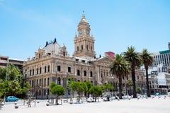 городок здание муниципалитет плащи-накидк Стоковое Изображение