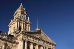 городок здание муниципалитет плащи-накидк Стоковое Фото