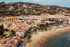 городок испанского языка прибрежного курорта Стоковая Фотография RF