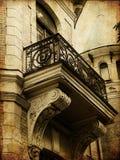 городок карточки искусства старый Стоковые Фото