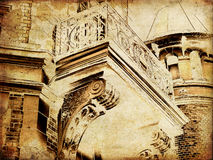 городок карточки искусства старый стоковые изображения