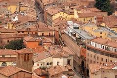 городок красного цвета bologna стоковые фотографии rf