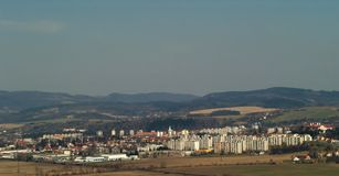городок ландшафта Стоковое Изображение