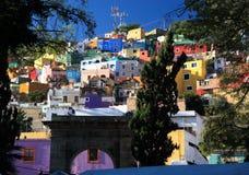 городок Мексики guanajuato исторический стоковые изображения rf